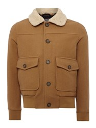 Peter Werth Caff Blouson Button Bomber Jacket Camel