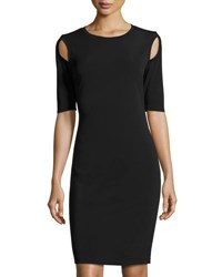 Philosophy Half Sleeve Shoulder Cutout Sheath Dress Black