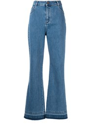 See By Chloe High Rise Flared Jeans Blue