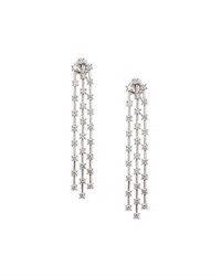 Neiman Marcus 14K Triple Strand Dangling Diamond Drop Earrings 3.0Tcw