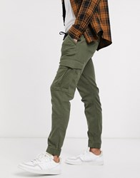 Tom Tailor Cargo Trousers In Khaki Green