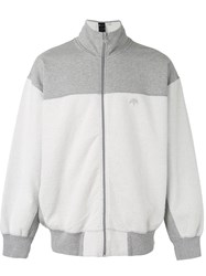 Adidas Originals By Alexander Wang Inout Zip Up Sweatshirt Unisex Cotton L White