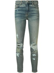Amiri Side Stripe Jeans Blue