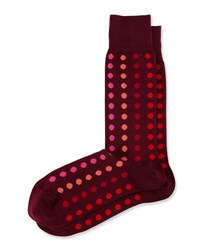 Paul Smith Grad Multicolor Polka Dot Socks Burgundy