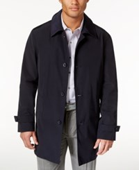 Kenneth Cole New York Men's Ray Button Front Raincoat Navy