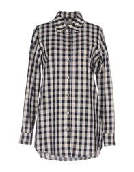 Solid And Striped Shirts Dark Blue