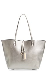 Street Level Junior Women's Reversible Faux Leather Tote Metallic