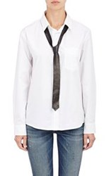 R 13 R13 Shirt With Leather Necktie White