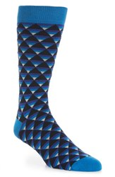 Ted Baker Men's London Geo Pattern Socks Navy