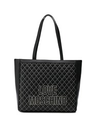 Love Moschino Quilted Effect Tote Bag Black