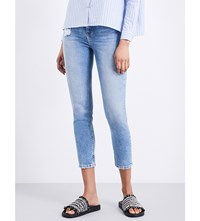 The Kooples Lizy Skinny Tapered High Rise Jeans Blu01