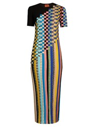 Missoni Ribbed Knit Wool Blend Dress Multi