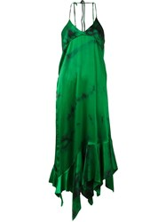 Marques Almeida Marques'almeida Asymmetric Ruffle Cami Dress Green