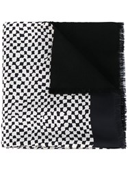 Haider Ackermann Check Print Scarf Black
