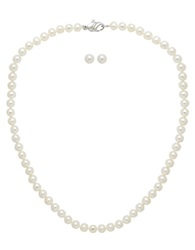 Honora Style Freshwater Pearl Necklace And Pearl Stud Earrings Set