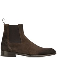 Doucal's Slip On Ankle Boots Brown