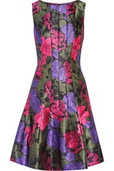 Oscar De La Renta Printed Satin Twill Dress Pink