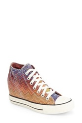 Converse Chuck Taylor R All Star R Lux X Missoni Collection Wedge Sneaker Women Pink