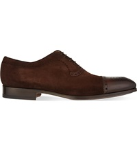 Magnanni Suede Oxford Shoes Brown