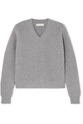 Anddaughter Inver Ribbed Wool And Cashmere Blend Sweater Gray