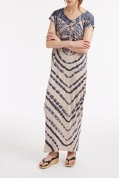 Raquel Allegra Tie Dye Kaftan Dress Blue