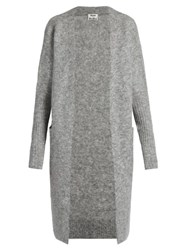 Acne Studios Raya Long Line Cardigan Grey