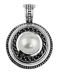 Konstantino Round Spinel And Pearl Pendant Enhancer No Color