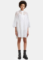 Valentino Flared Sleeve Lace Mini Dress White