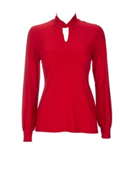 Wallis Petite Red Longsleeve Polo