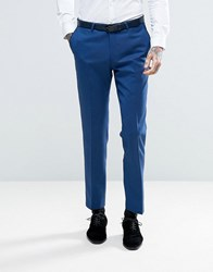 Noose And Monkey Skinny Tuxedo Trouser Blue