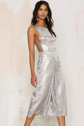 Nasty Gal J.O.A. Shimmer Of Hope Metallic Jumpsuit