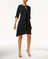 Thalia Sodi Tab Sleeve Draped Dress Only At Macy's Deep Black