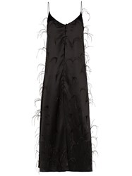 Michael Lo Sordo Long Ostrich Feather Camisole Top 60