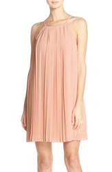 Greylin Women's Pleated Trapeze Dress With Lace Back