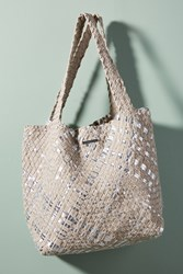 Monserat De Lucca Dupri Vega Canvas Tote Bag Light Grey
