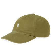 Norse Projects Light Twill Sports Cap Green