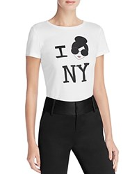 Alice Olivia Stace Face I Love Ny Tee White Multi