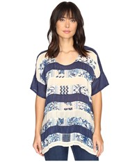 Johnny Was Retreat Panel Top Multi A Women's Clothing Blue