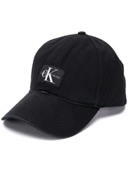 Calvin Klein Jeans Logo Patch Baseball Cap Black