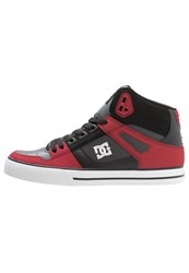 Dc Shoes Spartan Skater Shoes Red Grey Black