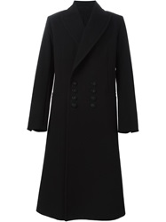Ann Demeulemeester Double Breasted Long Coat Black