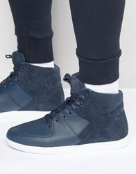 Boxfresh Camberwell Hi Top Trainers Blue