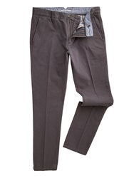 Racing Green Butler Flat Front Twill Chinos Charcoal