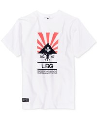 Lrg Men's Rise And Grind Cotton Graphic Print Logo T Shirt White