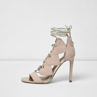 River Island Womens Pink Tie Detail Shoe Boot