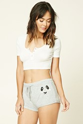 Forever 21 Animal Face Pj Shorts