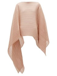 Issey Miyake Pleats Please Madame T Technical Pleated Scarf Light Pink