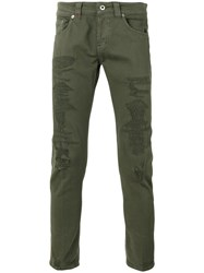 Dondup Distressed Skinny Jeans Green