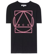 Mcq By Alexander Mcqueen Printed Cotton T Shirt Black