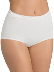Sloggi 3 Pack Basic Gold Maxi Briefs White